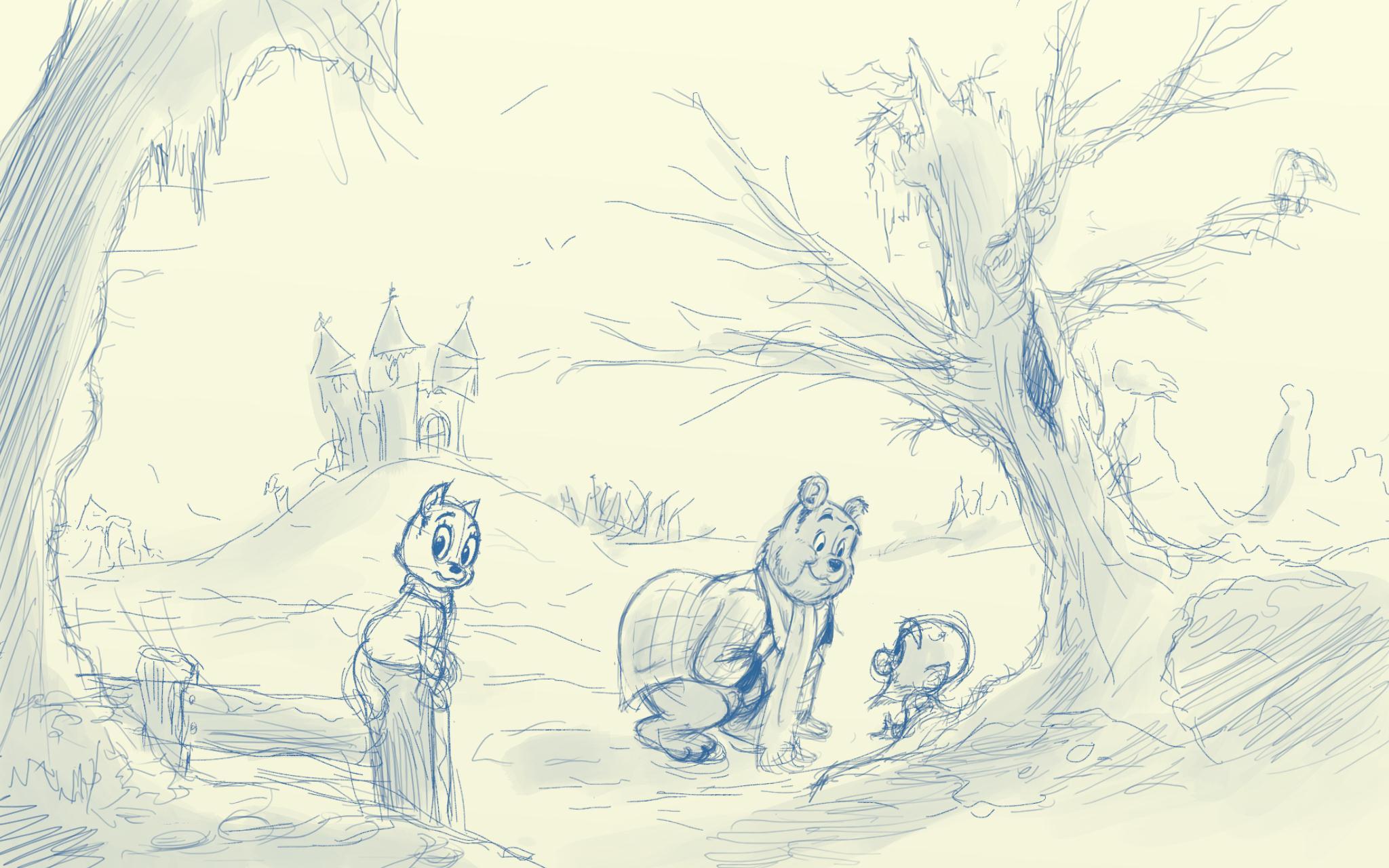Bommel schetsen